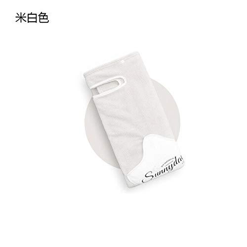 Xiaobing Toalla de Microfibra Suave Absorbente de Lana de Coral Toalla de baño para el hogar Albornoz para Damas -Off-White-S