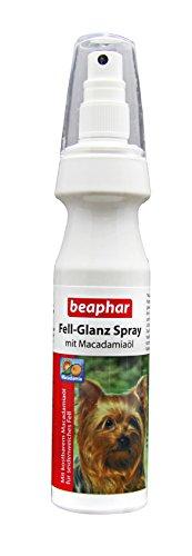 Fell-Glanz-Spray für Hunde | Fellpflege für glänzendes Fell | Gegen trockene Hunde-Haut & stumpfes Fell | Mit kostbarem Macadamia-Öl | 150 ml
