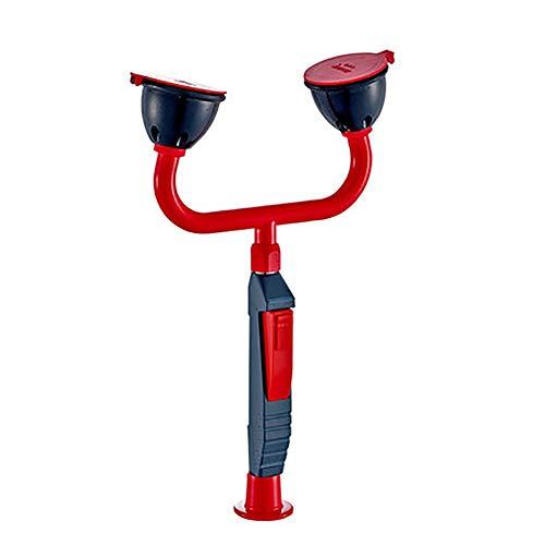 JL Desktop Notfall-Augenspülstation Dusche Eye Flush Dusche Kupfersicherheit mit 1.5m Edelstahlschlauch für die Laborindustrie,Double Head
