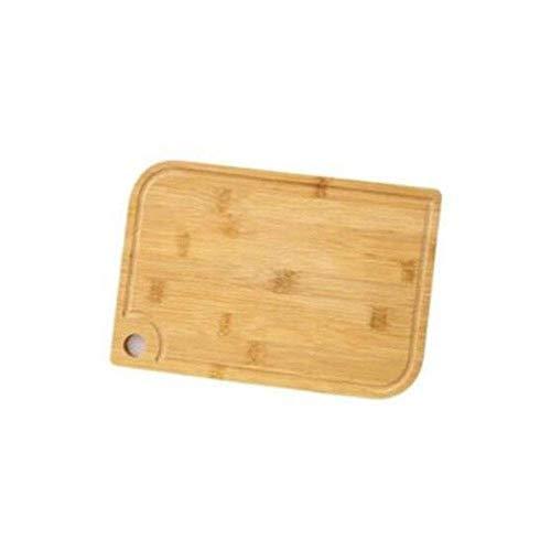 Gyt& Tagliere da Cucina, Tagliere di bambù, Pannello di Ispessimento per Uso Domestico Tagliere di Frutta Carne, Tagliere di Fascia Alta per Prodotti per la casa, Piatto di Servizio,33cm