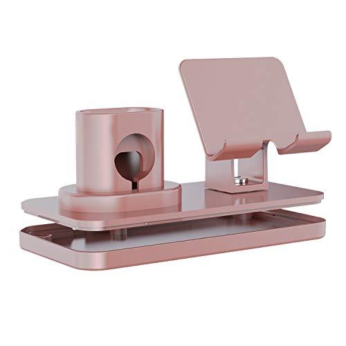 Gaoominy Soporte de carga 3 en 1 para reloj serie de escritorio, carga de un soporte, oro rosa