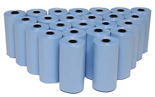 360 sacchetti per escrementi cani biodegradabili, sacchetti per le escrementi dei cani, profumati e resistenti (blu)