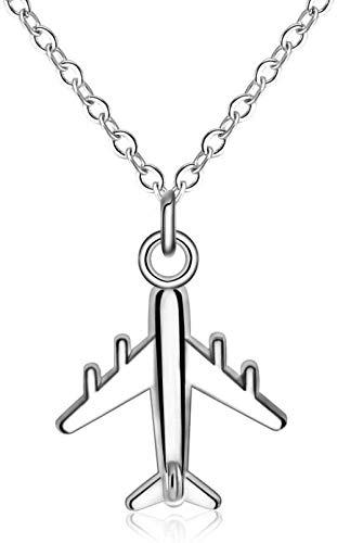 CKAWM Halsketten Pulloverkette Halsreif Halskette Schlüsselbeinkette Einfaches Flugzeugmodell Anhänger Halskette Kämpferlegierung Schlüsselbeinkette