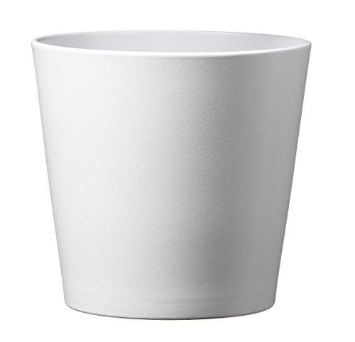 Soendgen Keramik Blumenübertopf, Dallas Esprit, weiß, 16 x 16 x 15 cm, 0078/0016/0847