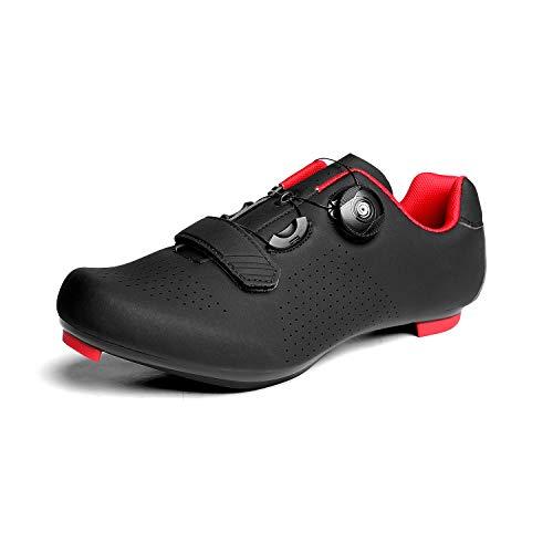 UPON HIKING Mens Road Cycling Shoes Black 43 UK 9