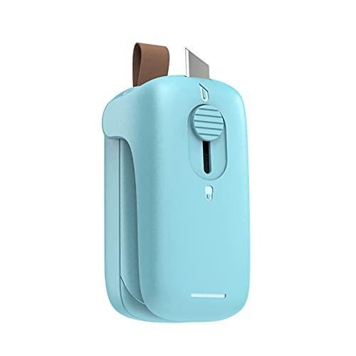 RoxNvm Mini sellador de bolsas, Sellador de calor portátil, Máquina selladora térmica de mano 2 en 1 con cortador para bolsas de plástico, bolsa de aperitivos, verde (batería no incluida)