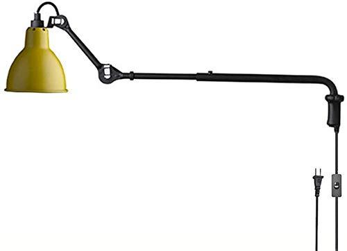 Lamparas Pared,Lámpara de pared industrial retro con personalidad, lámpara de pared de hierro de brazo largo ajustable con interruptor, cable de 1,8 m, focos de pared plegables telescópicos vintag