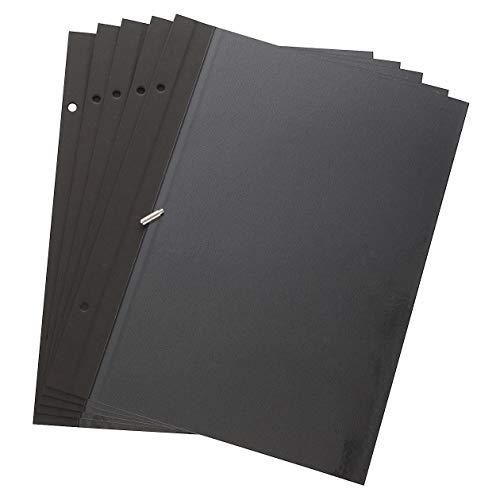 無印良品 綿麻増やせる アルミコート フリー台紙アルバム用フリー台紙 A4タイプ・5枚(10ページ)ビス付・黒 18782635