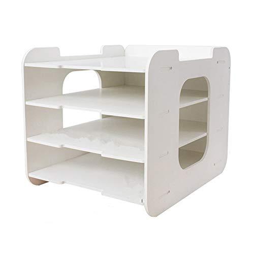 Estante de archivo Bandeja de papel Organizador de escritorio Instalación sencilla:...