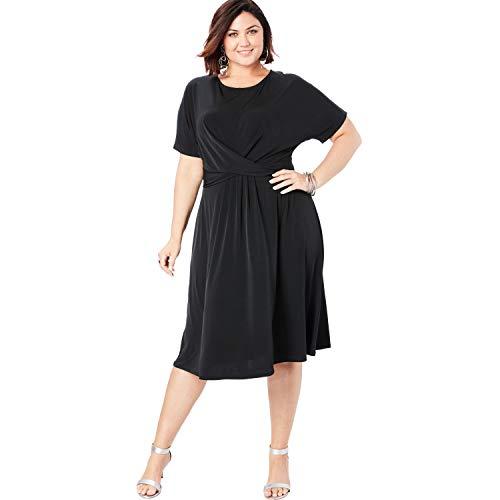 Roamans Women's Plus Size Twist Front Dress