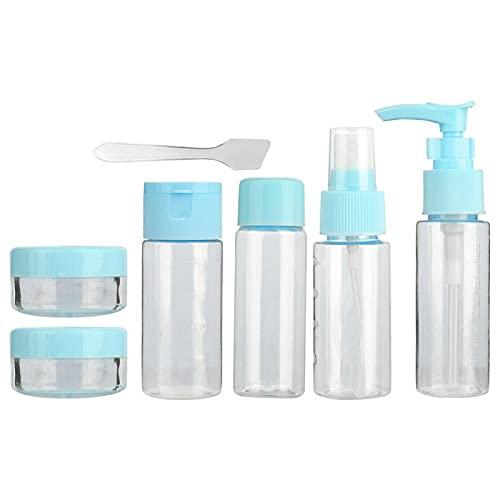 Botella de spray de maquillaje 2 colores champú contenedor portátil para belleza para baño (1712 azul)