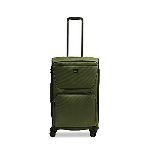 Stratic Bendigo Light Koffer weichschale Trolley Rollkoffer Reisekoffer 4 Rollen TSA-Zahlenschloss, erweiterbar, extra leicht, Größe M, grün, 3-1019-65-grün