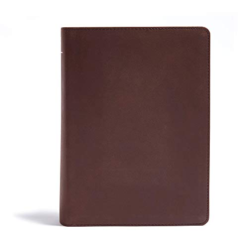CSB He Reads Truth Bible, Brown Genuine Leather Indexed