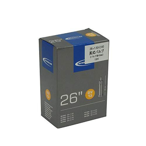 Schwalbe Unisex– Erwachsene Fahrradschlauch DV13 40/62-559 EK 40 mm Schlauch, schwarz, 26
