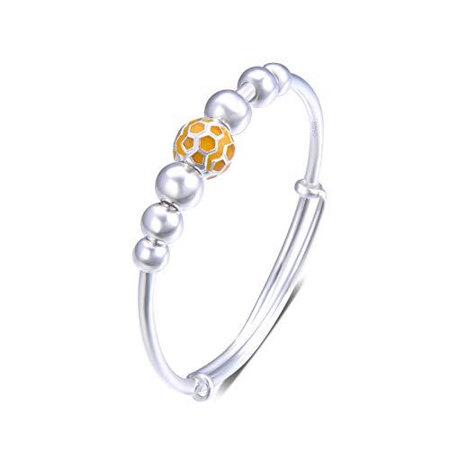 1 unid pulseras para las mujeres S990 plata goteo redondo perlas niñas accesorios