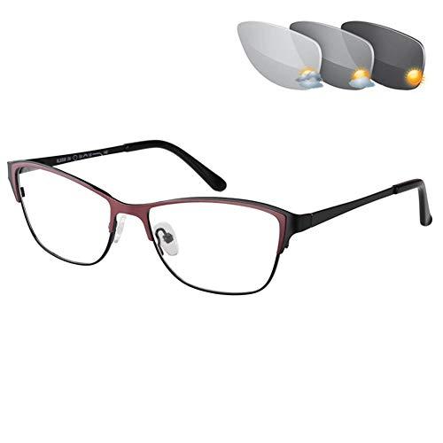 PLMOKN Blaulicht-Schutzbrille, Anti-Eyestrain, Computer-Lesebrille, Gaming- / TV-Brille für Frauen, Anti-UV, Anti-Blendung(C4-0)