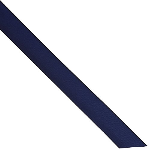 "Creative Ideas Solid Satin Ribbon, 7/8"" by 100 Yard, Navy Blu, Solid, Navy Blue"