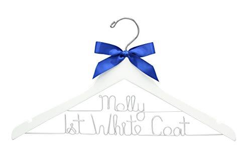 First White Coat Hanger, Pharmacist Gift, New Doctor Gift, PhD Gift, White Coat Ceremony, Medical School Graduation, Custom Lab Coat Hanger