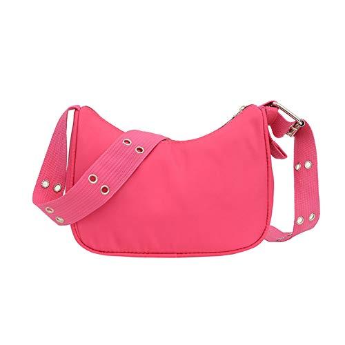 Casual Nylon Women Messenger Bags Fashion Solid Color Phone Pouch Female Street Daily Zipper Shoulder Crossbody Handbag
