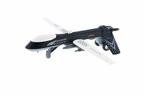Showcasts Predator Drone w/ Light & Sound, Black - Daron TM8170 - Diecast Model Military Vehicle