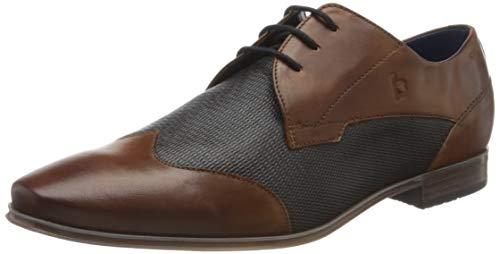Bugatti 3114201b3535, Zapatos de Cordones Derby para Hombre, Marrón (Cognac/Blue 6340), 46 EU