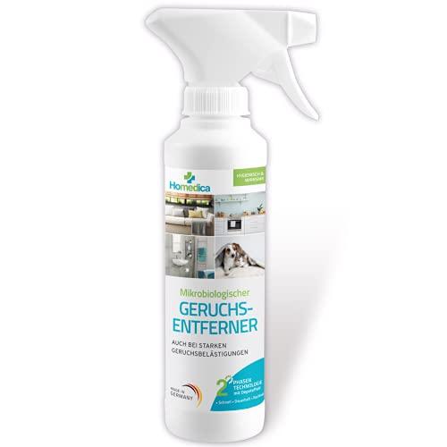 [Test 1x SEHR GUT] Geruchsentferner Spray - Mikrobiologischer Geruchsneutralisierer und Enzymreiniger - Reinigung für Haushalt und Tierhaltung - Dermatologisch - Vegan & Made in Germany - 250 ml