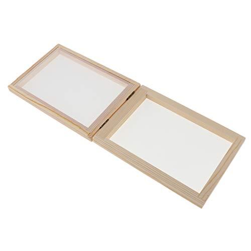 dailymall Papier Schöpfrahmen, Papierherstellung Rahmen, Papierschöpfsieb, Papierschöpfrahmen für Kinder - 30X40C, 34 x 25 cm 2 in 1