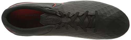 Nike Legend 8 Academy FG/MG, Zapatillas de Futsal Hombre, Black Dk Smoke Grey Chile Red, 44.5 EU