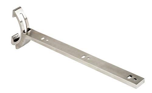 Gedotec Soporte de estantería ajustable para paredes inclinadas | Soporte de pared de acero inoxidable cepillado | Soporte para suelos de madera y cristal | Ajustable de 0 a 66 grados | 1 pieza