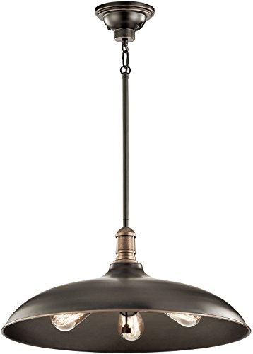 Kichler 42649OZ, Cobson Cone Pendant, 3 Light, 225 Total Watts, Olde Bronze
