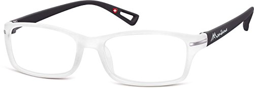 Montana Eyewear Sunoptic MR76D +1.50 leesbril in wit-transparant, inclusief softeetui, transparant