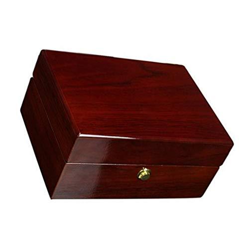 Caja de madera de una sola mano reloj de lujo Mostrar caso organizador de joyas caja de almacenamiento para anillo pulsera reloj mostrar mejor regalo por defecto