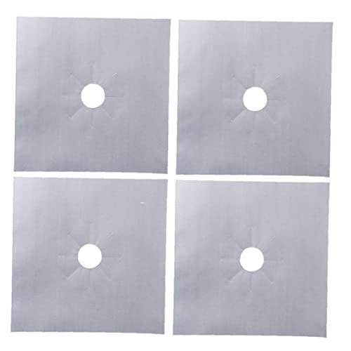 Zonster 4 Unids Cubiertas Quemadores Estufa Gas para Estufa Reutilizable Cubiertas Quemadores Estufa Protectores Antideslizantes Resistentes Calor
