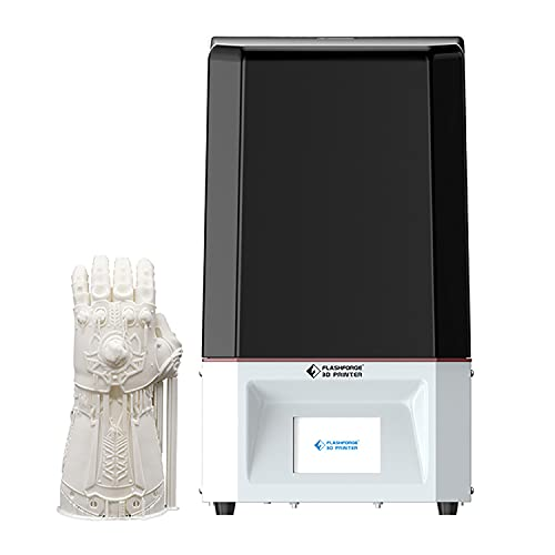 Flashforge Foto 6.0 3D Printer UV Photocuring Resin 3D Printer Assembled with 2K Monochrome Screen Full Grayscale Anti-aliasing Volume 130 * 78 * 155 mm Printing Size