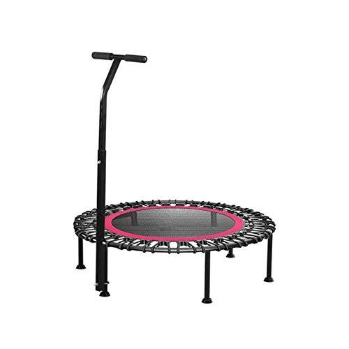 Bdesign Trampolín de Aptitud Interior con función Plegable Opcional 40 Pulgadas  Cuerdas de Bungee Suave y Tranquila y agridulce Ajustable Fitness Trampoline/Interior Trampoline