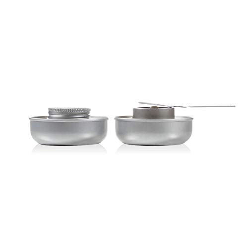 Boska Quemadores de fondue con extra seguras - Para juego de Fondue - Incluido gel combustible - Plata - 17.5 cm