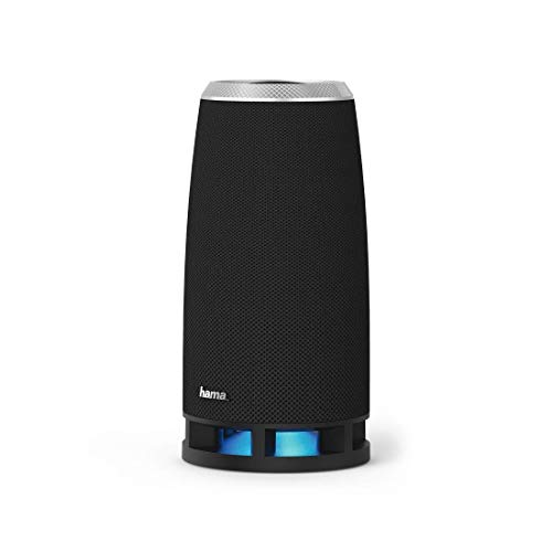 Hama Bluetooth Lautsprecher Soundcup-Z (16 W, Bluetooth 4.2, USB, MicroSD-Karte, AUX 3,5mm Klinke, beleuchtet, für Smartphone, PC, Tablet) mobile Speaker Box schwarz
