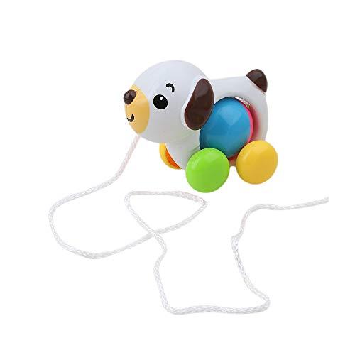 Fliyeong Premium-Baby entlang Spielzeug entlang ziehen Ente Spielzeug für Kleinkind Lernen Walker Hund