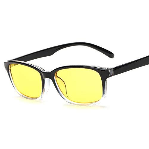 bril, niet-verblindend, lichtblauw, frame voor PC, vermoeidheid, hoofdpijn, oogvermoeidheid, computer-veiligheidsbril. Transparent Box On Black