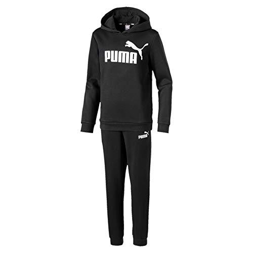 Puma Essential Logo - Tuta sportiva con cappuccio, per bambini, 3-4 anni, colore: Nero
