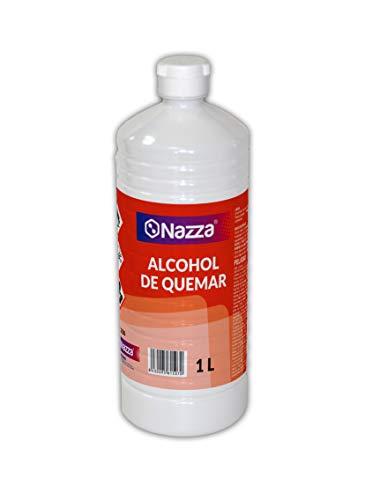 Alcohol de Quemar | Enérgica acción desengrasante | Combustible para el encendido de barbacoas y chimeneas | Envase de Plástico de 1 Litro
