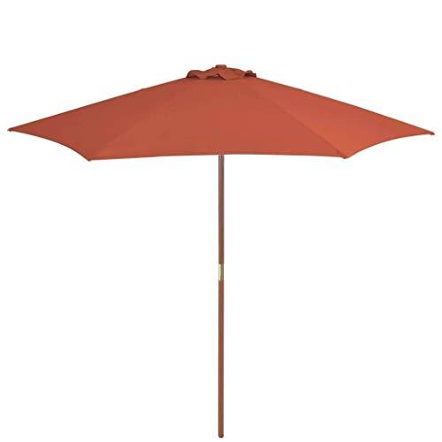 XNJJ Anti-UV Sonnenschirm, 270cm lange Terrasse Sonnenschirm 420D Wasserdicht Offset Cantilever Jacke, verwendet for Outdoor-Garten, Strand Geschäftliche Aktivitäten Markt, Camping, Swimming-Pool 8.19