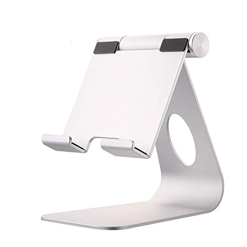 Tablet Stand Adjustable, RYRY Tablet Stand : Desktop Stand Holder Dock Compatible with Tablet Such as iPad Pro 9.7, 10.5, Air Mini 4 3 2, Kindle, Nexus, Tab, E-Reader (4-13'') (Silver)