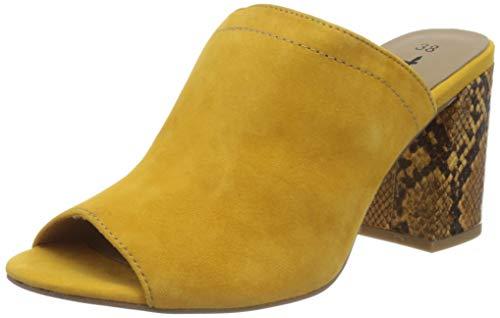 Tamaris Damen 1-1-27288-24 Pantoletten, Gelb (Saffron/Snake 650), 39 EU