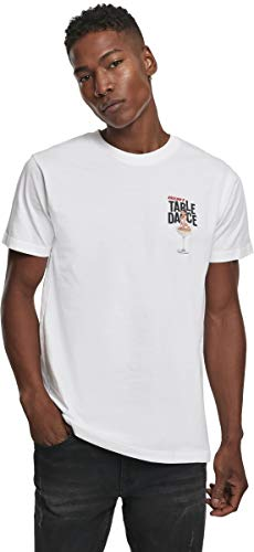 Mister Tee Herren Tabledance T-Shirt, White, L