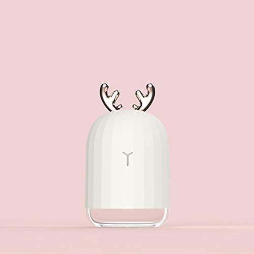 elk Konijn luchtbevochtiger USB Kleurrijke Nacht Licht auto Thuis huisdier luchtbevochtiger Wierook Machine Kleur: wit