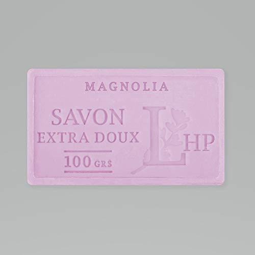 PRODUIT DE PROVENCE - MAGNOLIA - SAVON DE MARSEILLE EXTRA DOUX 100 G - DÉLICAT PARFUM NATUREL DE MAGNOLIA- GARANTI SANS PARABEN