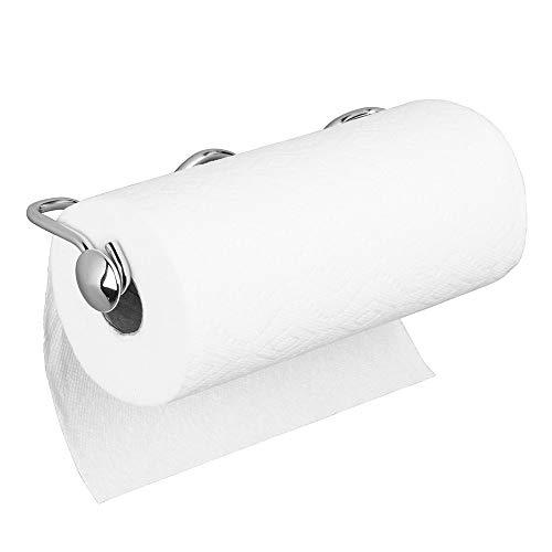 mDesign Küchenrollenhalter Wand – Rollenhalter Küchenrolle – Halter für Küchenrolle – für Schrank- oder Wandmontage – 5,9 cm x 34,6 cm x 10,7 cm