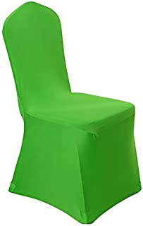 Spandex Dining Chair Cover Covers for Wedding Banquet (Green)