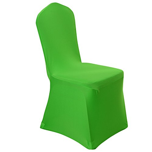 Uniquemystyle Spandex Dining Chair Cover Covers for Wedding Banquet (Green)